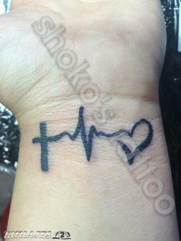Cruz Pulsaciones Y Corazon Tatuajes 123