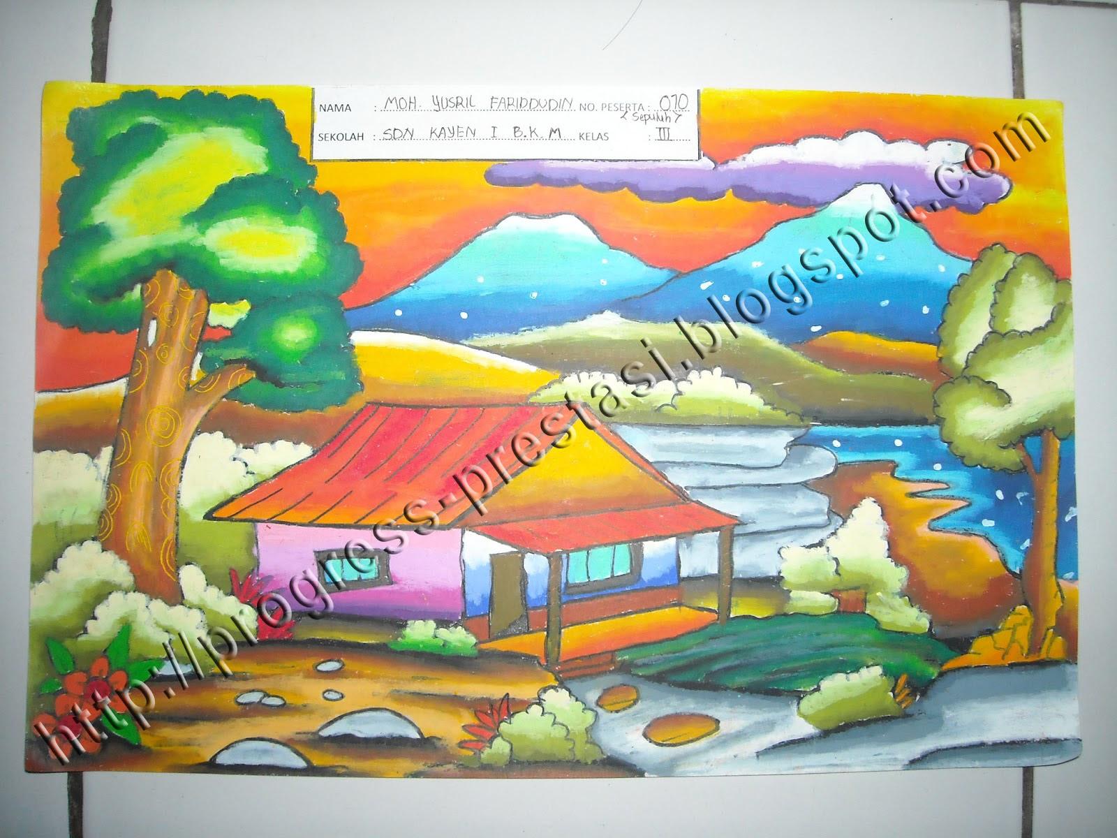 Gambar Pemandangan Rumah Anak Sd Rumah Joglo Limasan Work