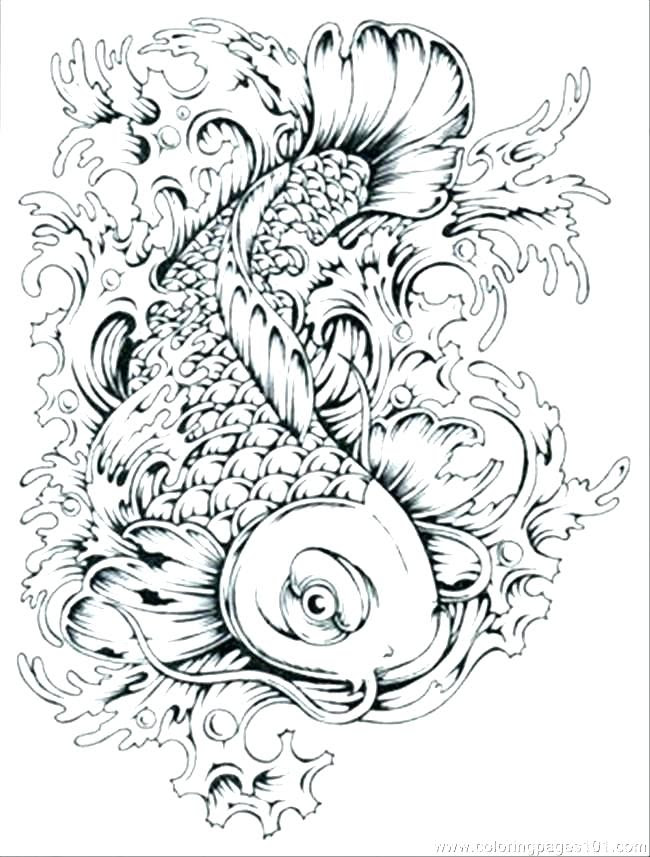Detailed Fish Coloring Pages at GetColorings.com | Free ...
