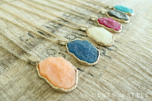 Fashion Friday- Druzy Jewelry- $6.95 & FREE SHIPPING, +$4.99 Scarf Upsell w/ Code DRUZY2