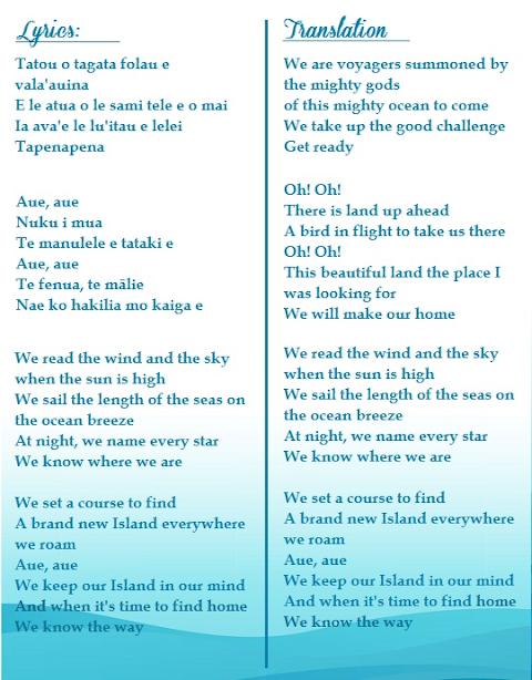 Moana Know Who You Are Lyrics Translation