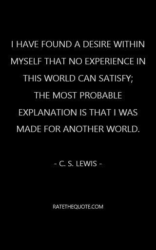 I Have Found A Desire Within Myself That No Experience In This World