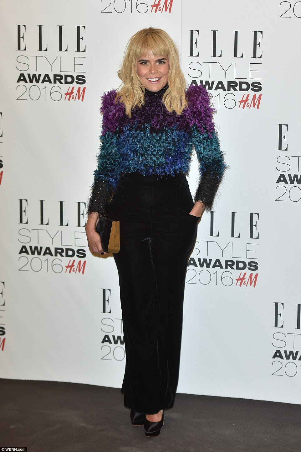 Leading the arrivals: Paloma Faith debuted a new, heavy fringe for Tuesday night's ELLE red carpet