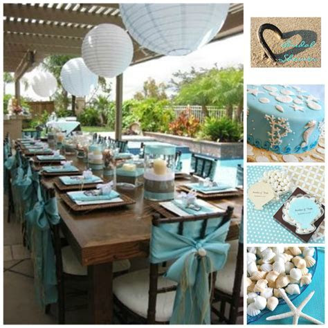 Beach Bridal Shower Inspiration Board