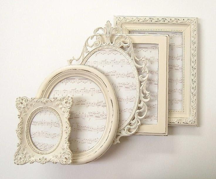 Shabby Chic Frames Picture Frame Set Ornate Frames Ivory Vintage