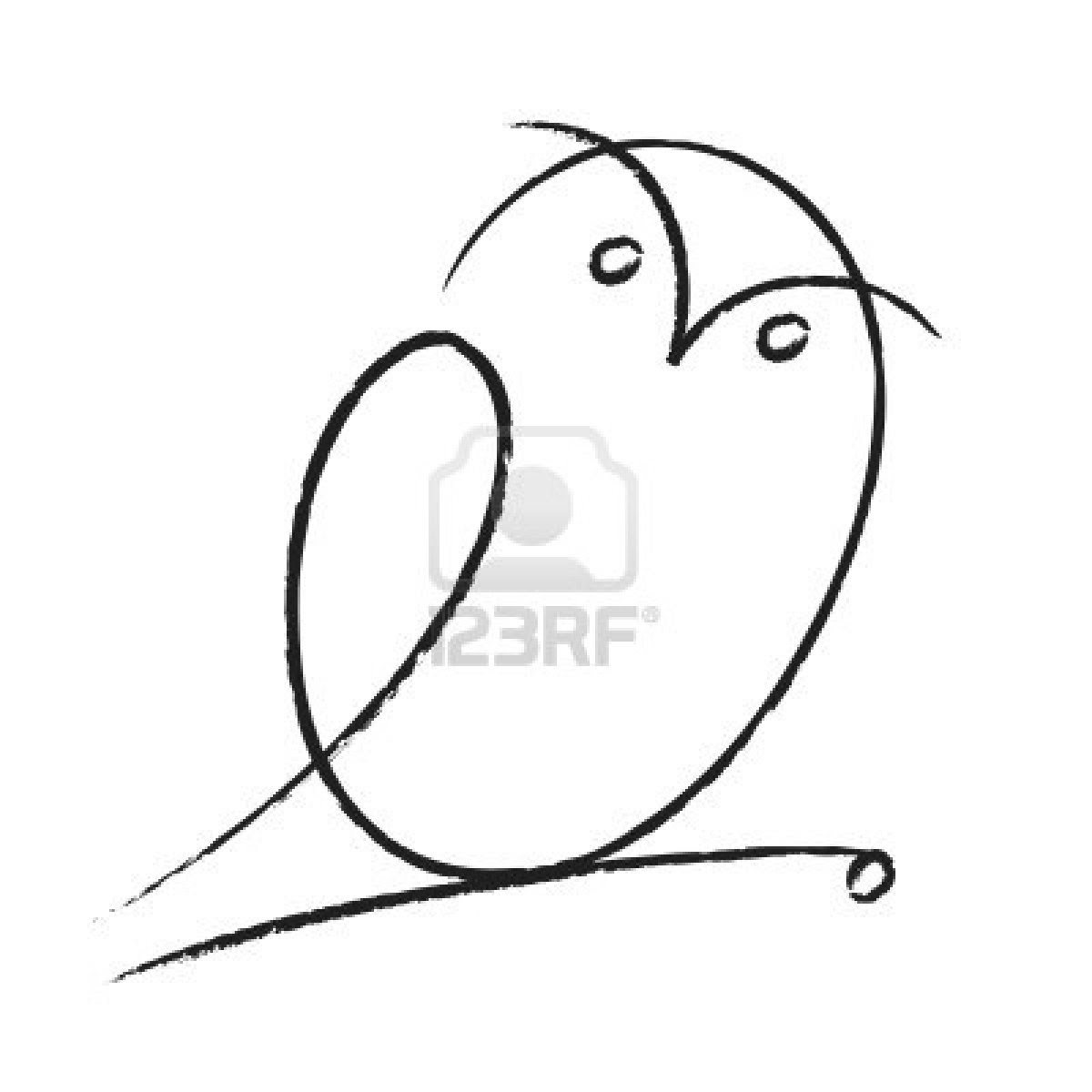 Owl Tattoo Line Drawing At Getdrawingscom Free For Personal Use