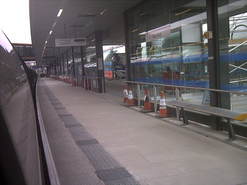 Stratford Tube getting ready for platform 3a