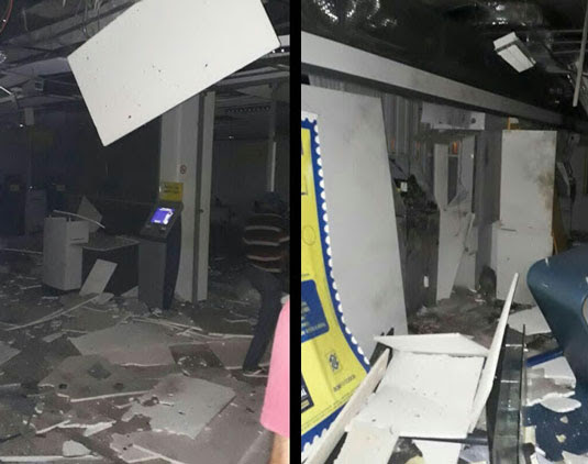 Bandidos armados explodem agência do Banco do Brasil, em Pindobaçu | Foto: Reprodução/ Redes Sociais