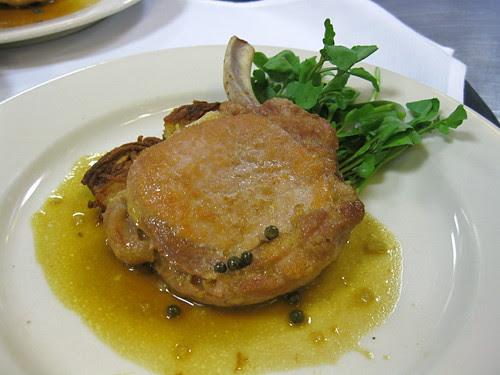 Pork Chop w. Green Peppercorn Sauce