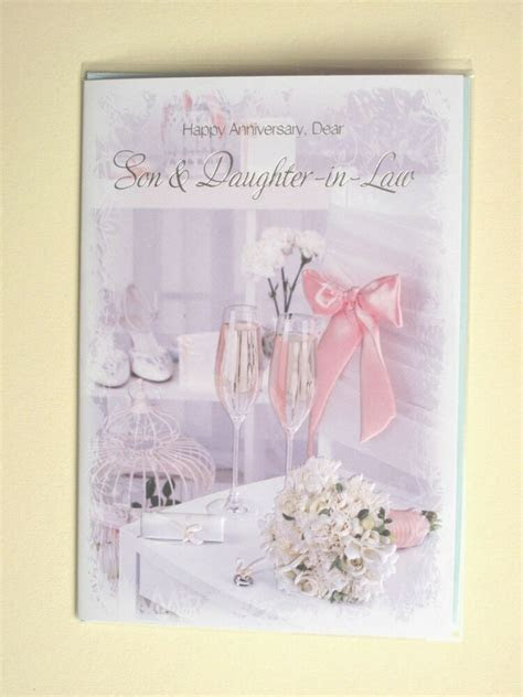 son and daughter in law anniversary card~wedding