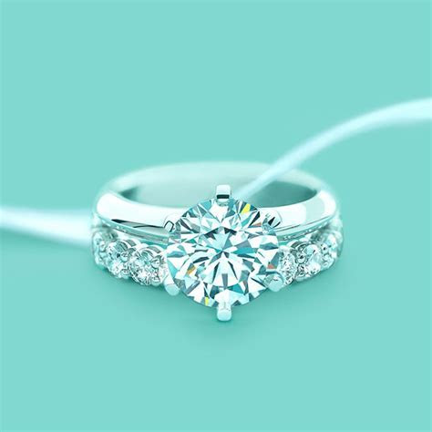 The Tiffany® Setting Engagement Ring in Platinum   Tiffany