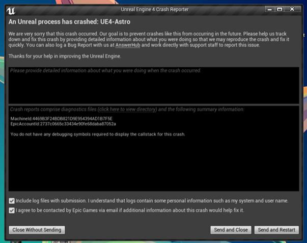 Solved An Unreal Process Has Crashed Ue4 Fortnitegame