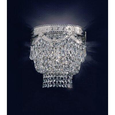 Cristalstrass Murano & Crystal Babylon 2 Light Crystal Wall Sconce ...