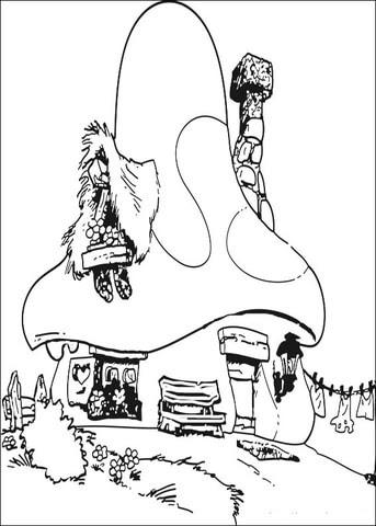 Ausmalbild Schlumpf Haus Ausmalbilder Kostenlos Zum Ausdrucken