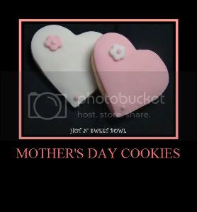 Fondant Covered Cookies - Mother's Day Cookies