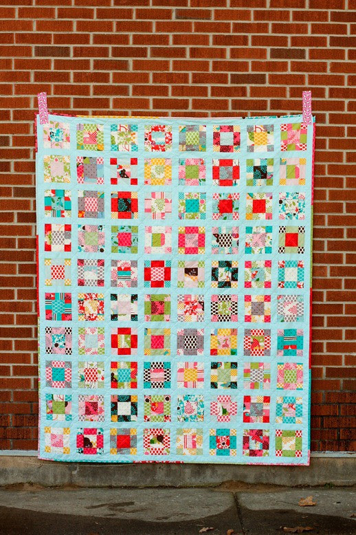 Vintage Nine-Patch Quilt
