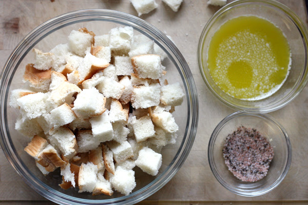 Makings of Homemade Croutons