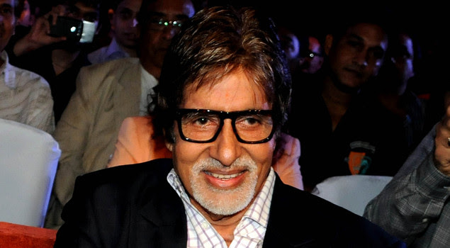 Indian Bollywood film actor Amitabh Bachchan smiles during the launch of producer T.P. Aggarwal's trade magazine 'Blockbuster' in Mumbai on July 8, 2012.