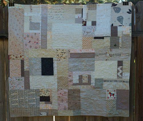 neutral quilt