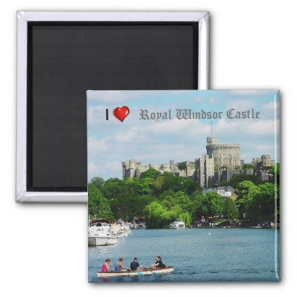 I heart Windsor Castle fridge magnet