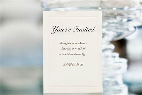 card template : Wedding ceremony invitation wording   Card