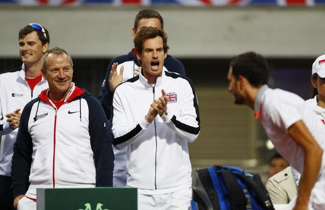 Britain Tennis - Serbia v Great Britain - Davis Cup Quarter Final - Tasmajdan Stadium, Belgrade, Serbia - 17/7/16Great Britain's Andy Murray applauds during James Ward's singles match against Serbia's Janko TipsarevicAction Images via Reuters / Jason CairnduffLivepicEDITORIAL USE ONLY.