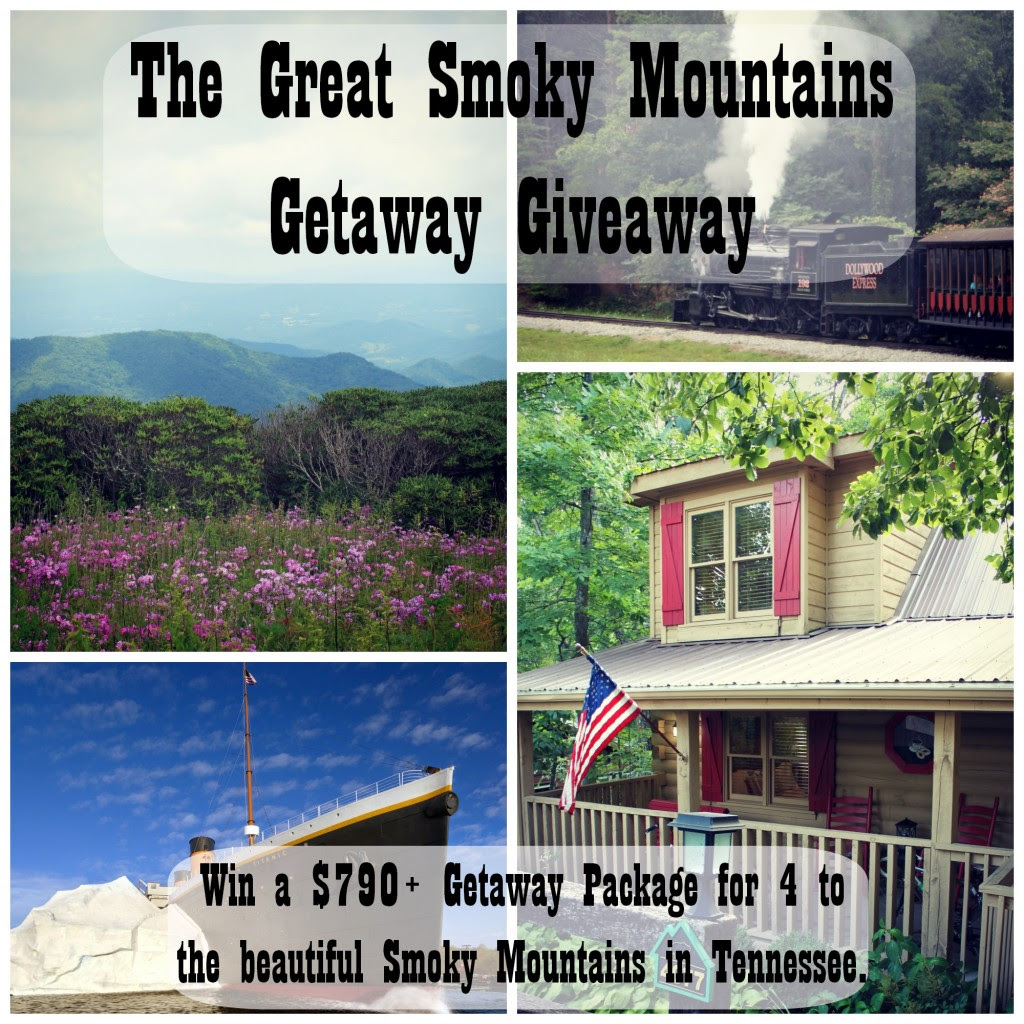 Enter the Smoky Mountain Getaway Giveaway. Ends 8/21.