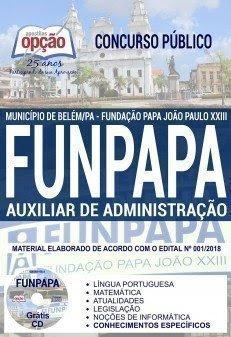 Apostila Concurso FUNPAPA 2018 | AUXILIAR DE ADMINISTRAÇÃO