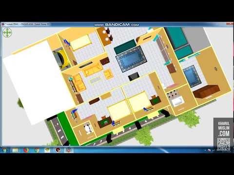 Desain rumah pojok, 1 lantai, lahan 10 x 15 m, luas bangunan 90 m