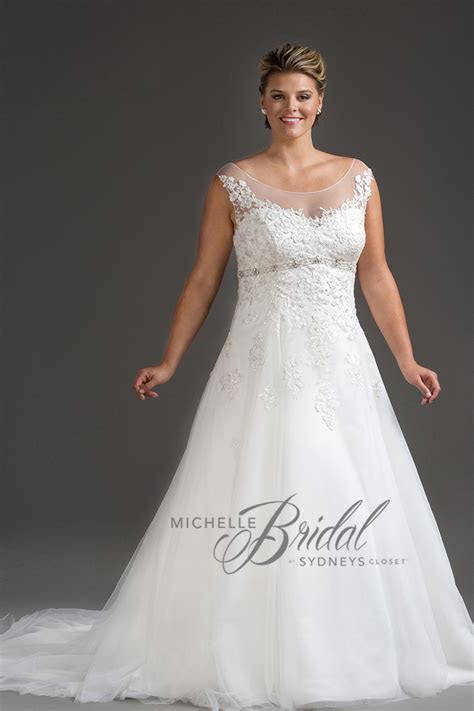 empire waist plus size wedding dress   Hope's Bridal