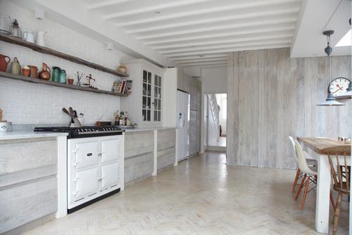 White Washed Oak Kitchen Cabinets