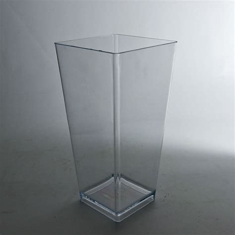 "9"" Plastic Tapered Vase (Clear)   Wholesale Flowers and"