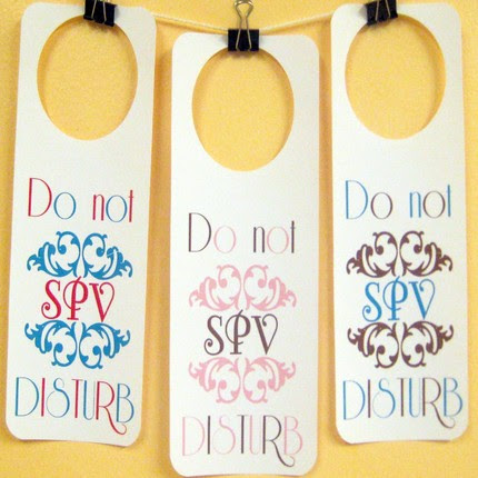 Etsy Do Not Disturb signs