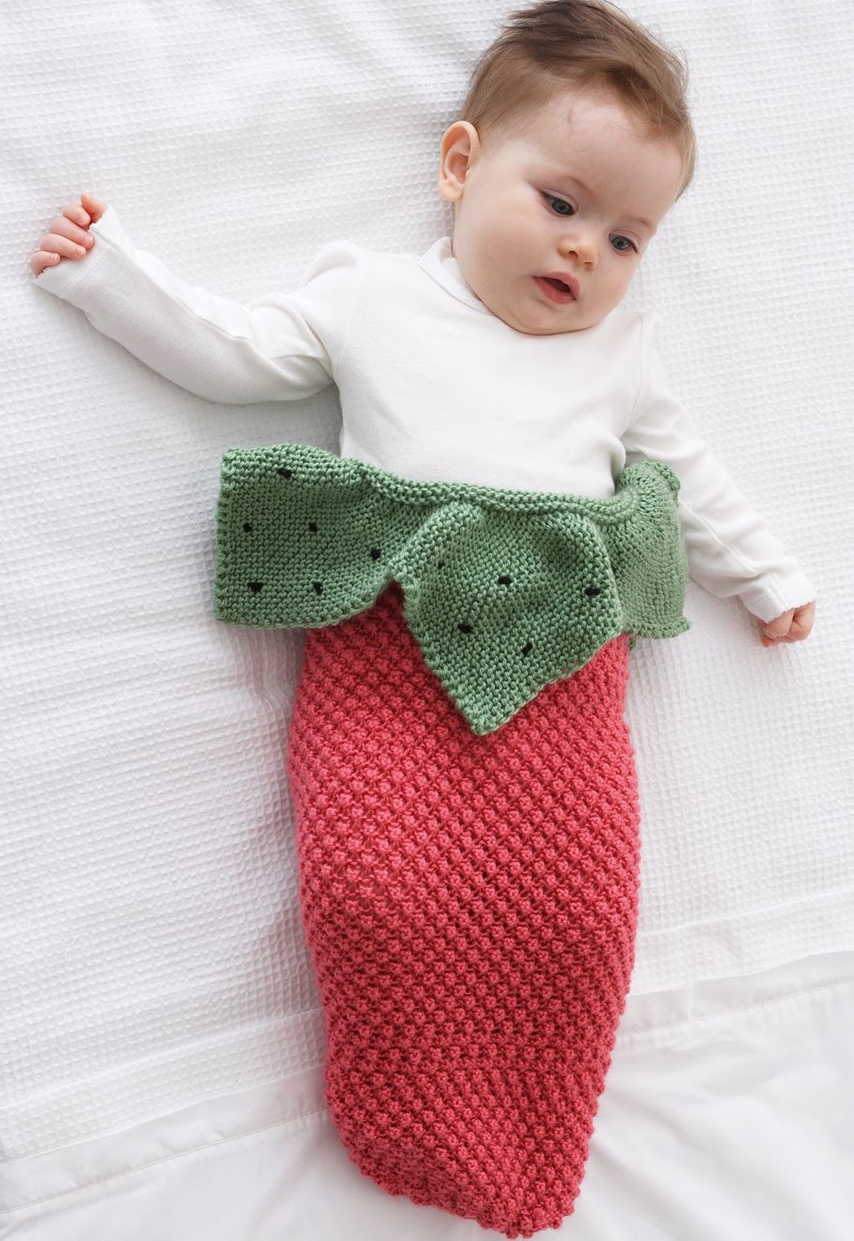 Free knitting pattern for Strawberry Baby Cocoom