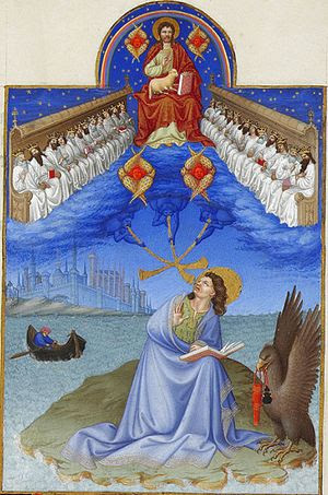 Visions of John of Patmos, as depicted in the ...
