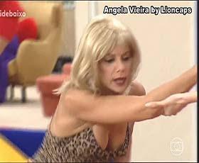 Angela Vieira sensual no Sai Baixo