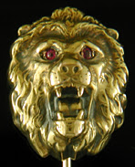Fierce lion stickpin. (J9216)