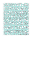 portrait A2 card size JPG white typography numbers on light turquoise LARGE SCALE