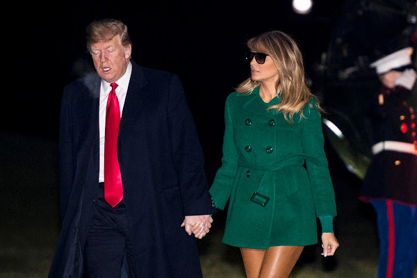 0bb72f613b1b1 Melania Trump's Skin-Colored Leather Pants Are Freaking People Out: See  Photos
