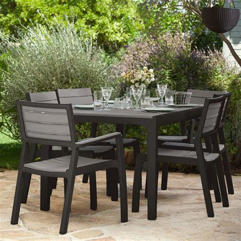 salon de jardin resine harmony table  fauteuils