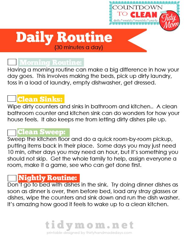 Daily Schedule Checklist