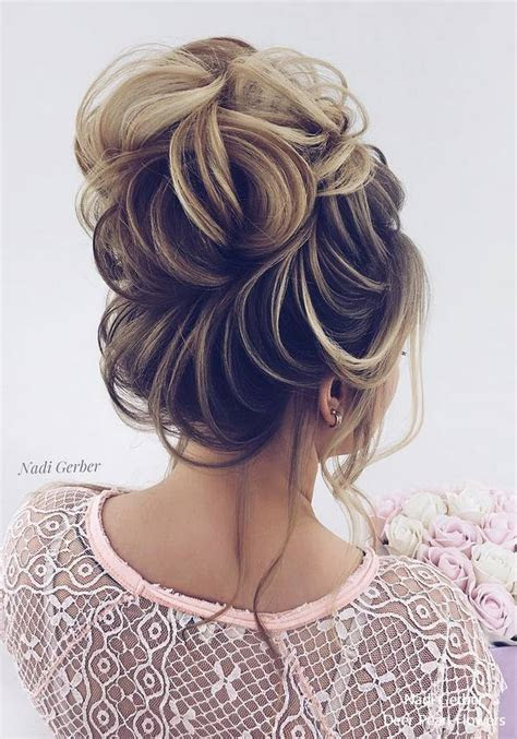 Top 20 High Bun Wedding Updo Hairstyles   Deer Pearl Flowers