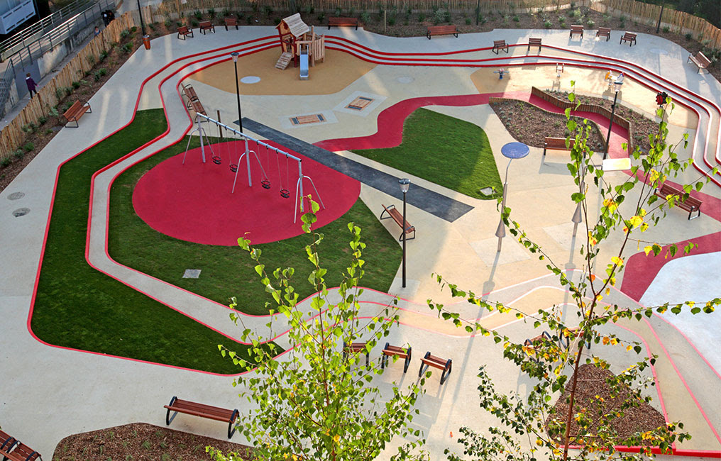 Designing a playground for young children by creating a ...