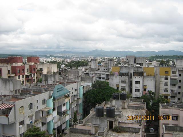 "View from Ready Possession 2 BHK Flat No. I 702 in Pethkar Projects' ""Balwantpuram Samrajya"", at Shivtirthnagar, Paud Road, Kothrud - Pune 411 038 - 8"