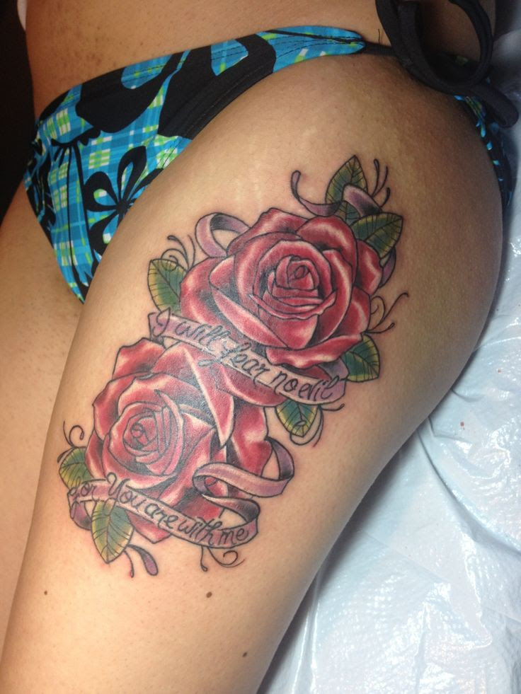 Upper Thigh Tattoos Designs, Ideas and Meaning   Tattoos