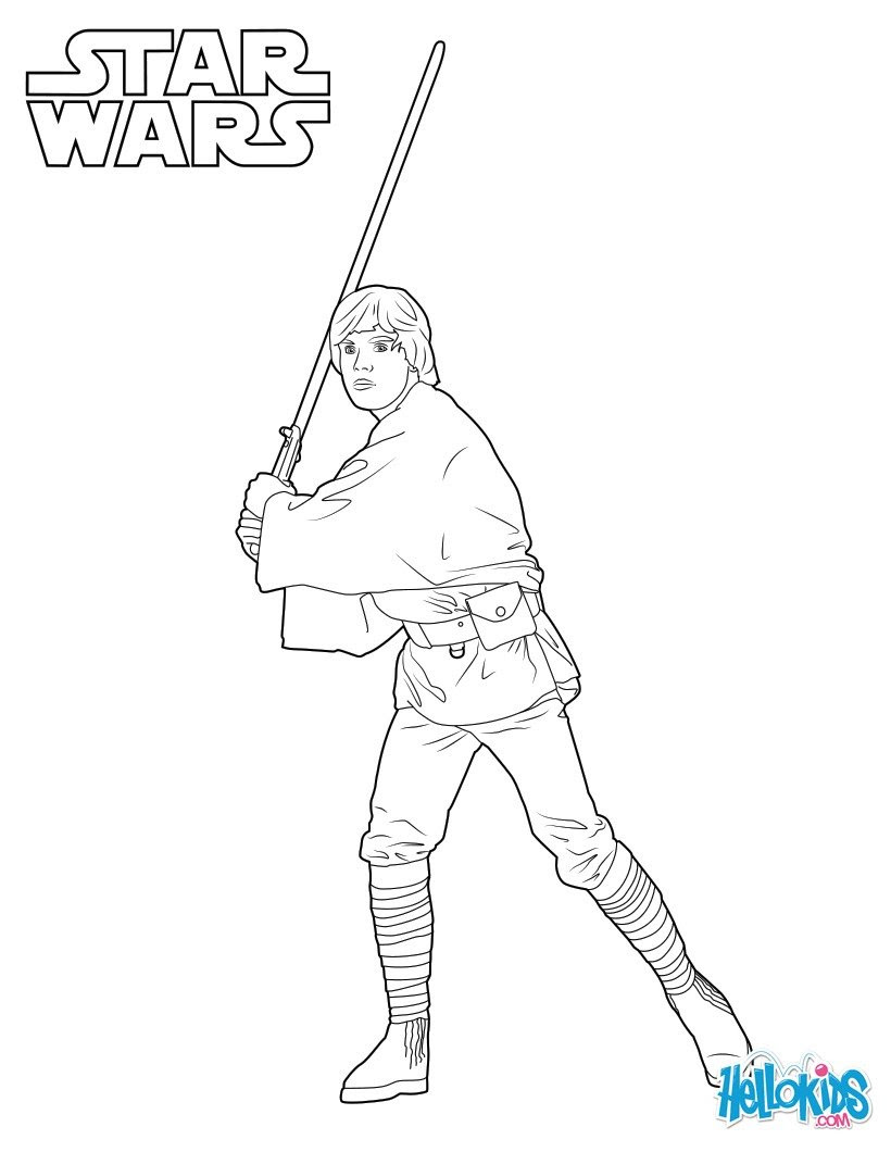 luke skywalker coloring page 3vu