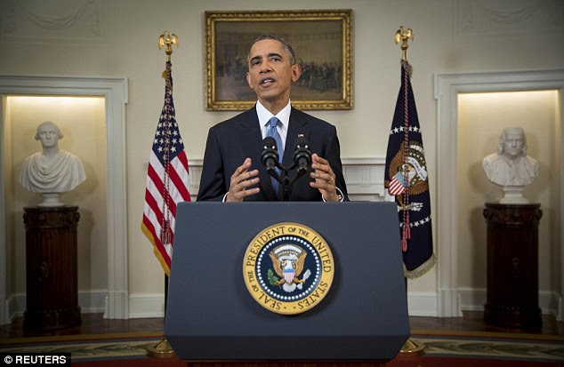 U.S. President Barack Obama announced a shift in policy toward Cuba in an address to the nation from the Cabinet Room of the White House in Washington, on Wednesday, December 17