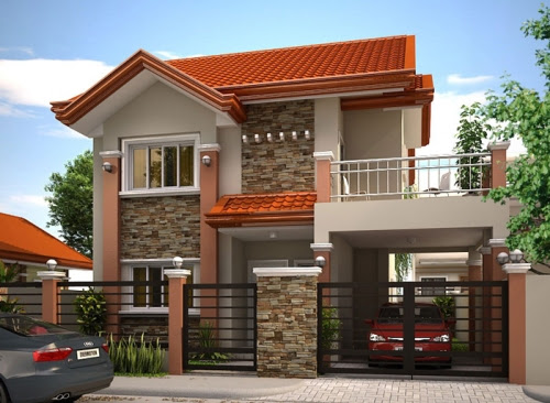 Pagar Rumah Minimalis Batu Alam sesuai Tema Rumah