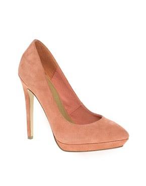 Image 1 ofASOS PROP Suede Pointed Platform Court Shoes