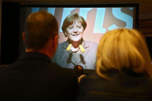 CDU Campaigns In Aalen, Baden-Wuerttemberg